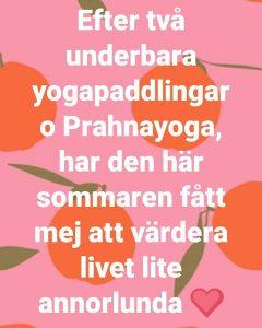 Yinyoga havskajak yoga paddling Oxelösund